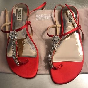 Jewel by Badgley Mischka Satin Flats